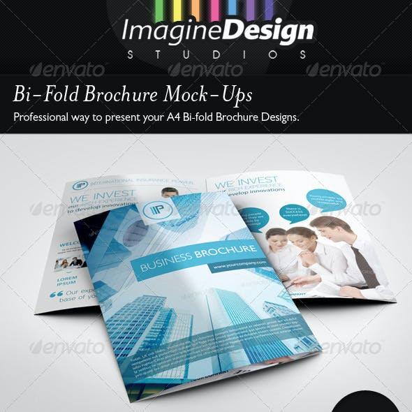 Bi-Fold Brochure Mock-Ups