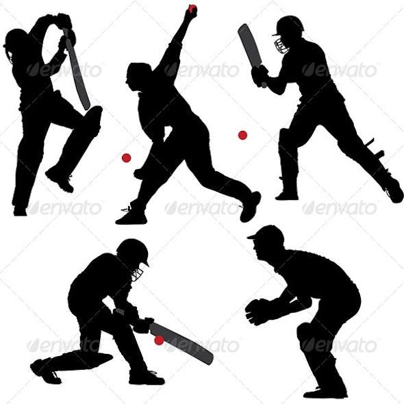 Cricket Sport Silhouette