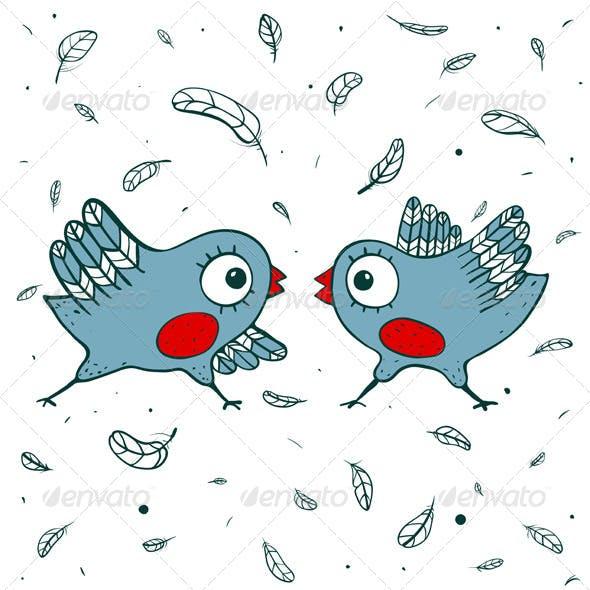 Birds Quarrel