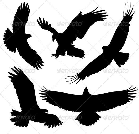 Eagle Silhouette By Iamsania Graphicriver Download eagle silhouette stock vectors. https graphicriver net item eagle silhouette 5422965