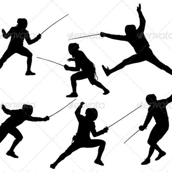 Fencing Silhouette