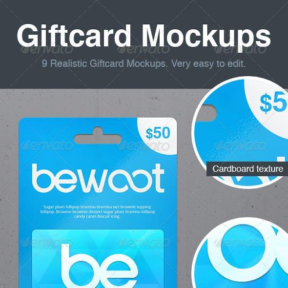 Giftcard Mockups