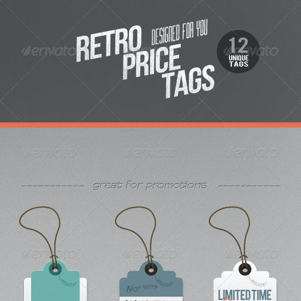 12 Retro Labels / Price Tags