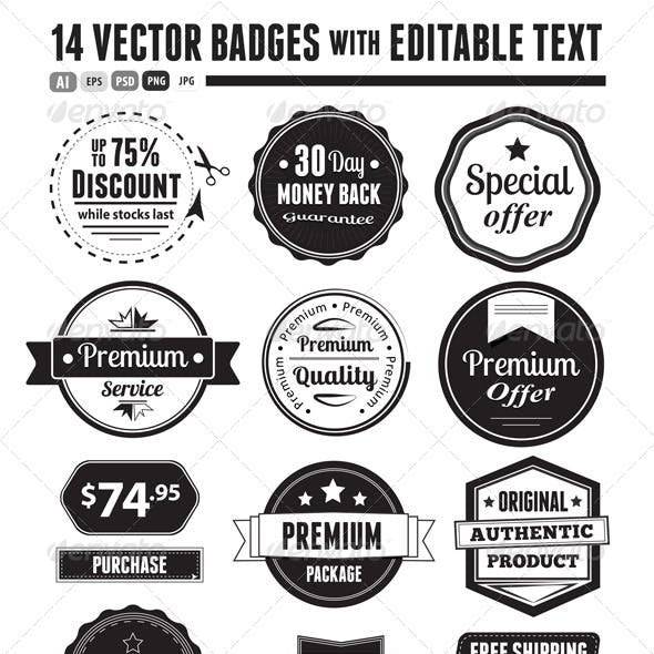 Retro Vector Vintage Seals