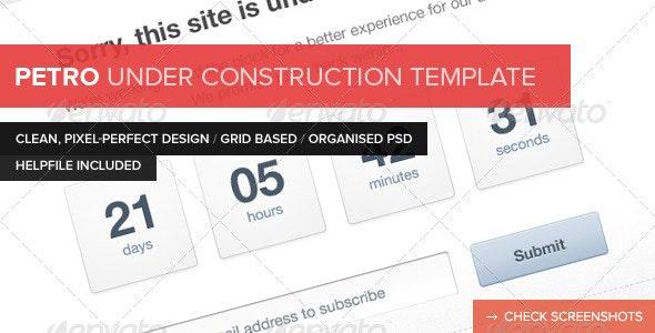Petro Under Construction Template - Miscellaneous Web Elements
