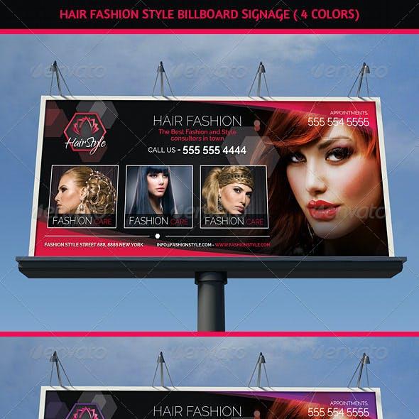 Hair Salon Fashion Style Billboard Signage