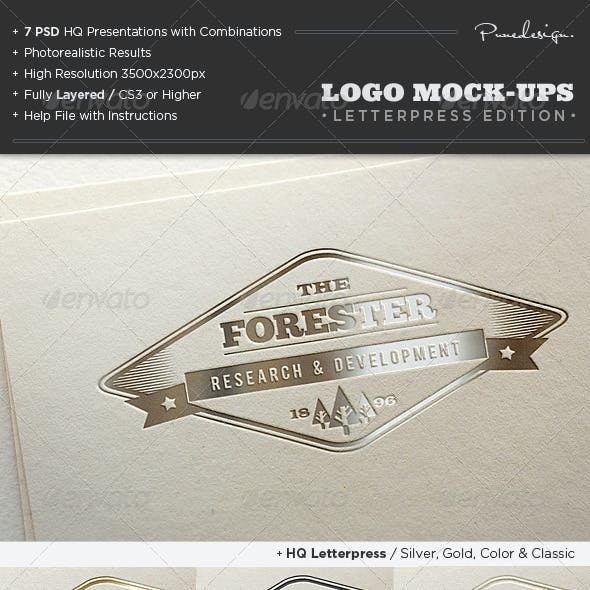 Logo Mock-Ups / Letterpress Edition