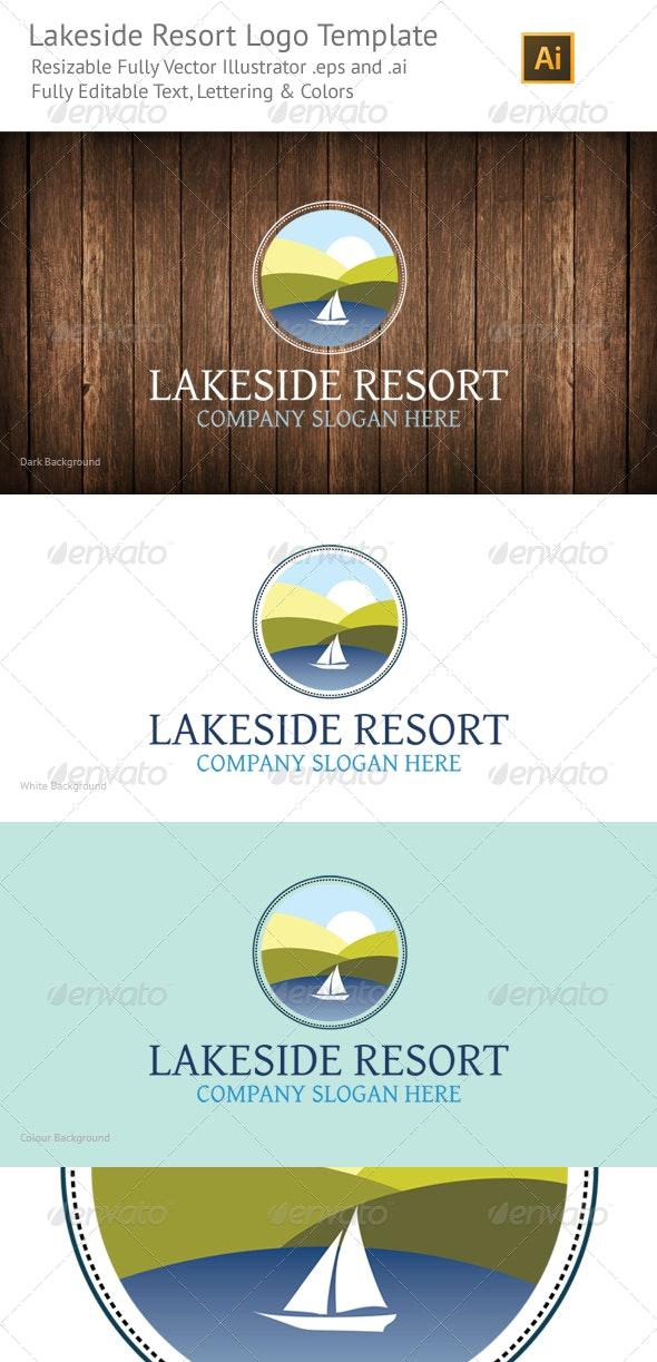 Lakeside Resort Logo Template - Nature Logo Templates