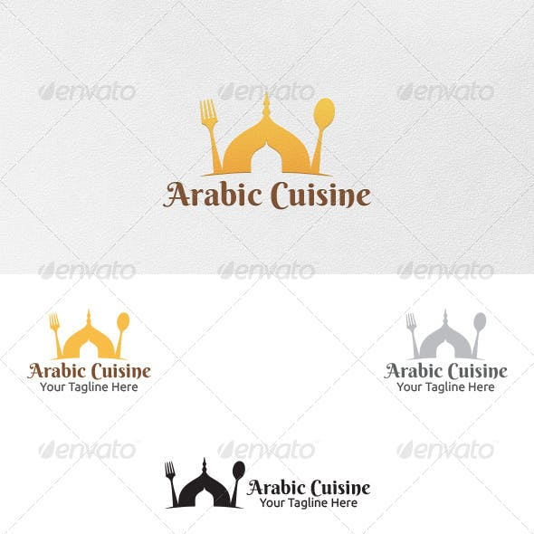 Arabic Cuisine - Logo Template