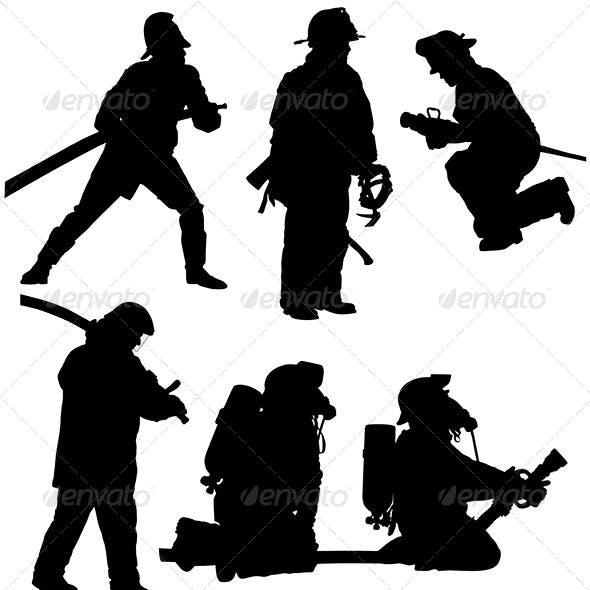 Firefighter Silhouette