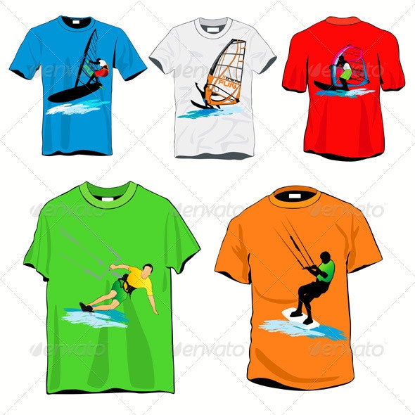 Surfers T-shirts Set - Man-made Objects Objects