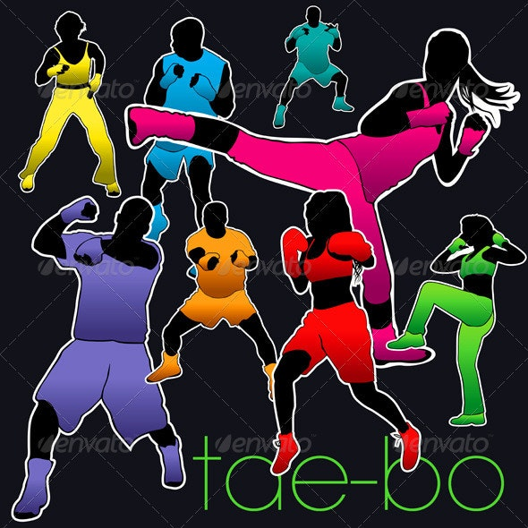 Tae-Bo Silhouettes Set - Sports/Activity Conceptual