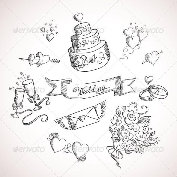 Sketch of Wedding Design Elements