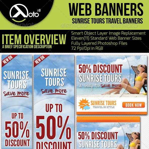 Travel Web Banners