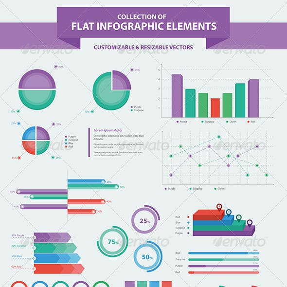 Flat Infographic Elements Collection v2.0