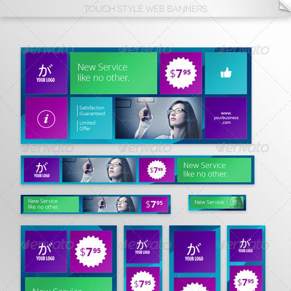 Touch Style Web Banner Templates