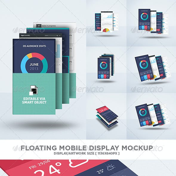Floating Mobile Display Mock-Up