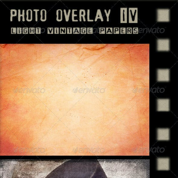 Photo Overlay - Light Vintage Papers