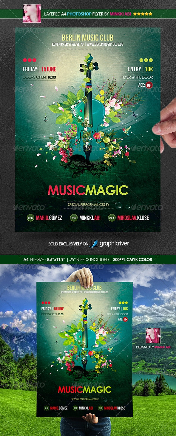 Music Magic Poster/Flyer - Miscellaneous Events
