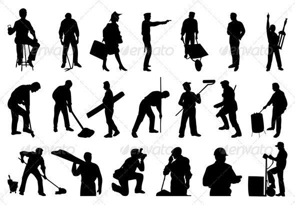 Working people - People Characters