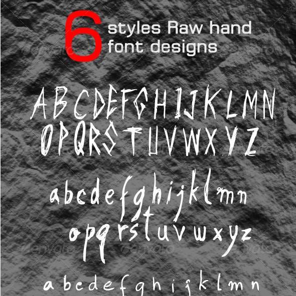 6 Raw Hand Font Designs