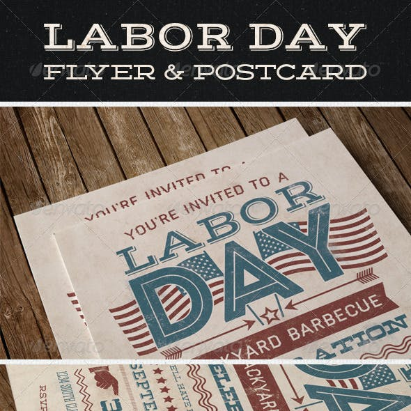 Labor Day Flyer & Postcard