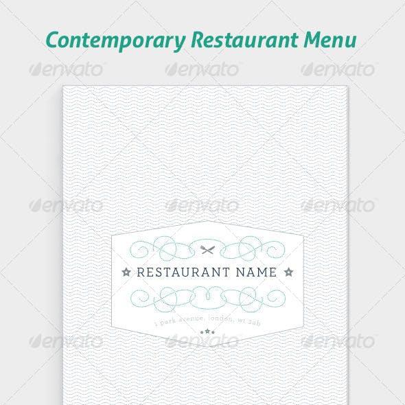 Contemporary Restaurant Menus