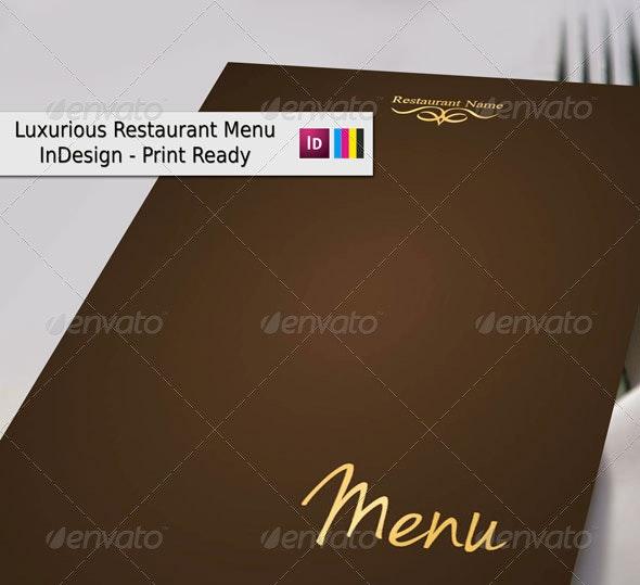 Luxurious Restaurant Menu - Food Menus Print Templates