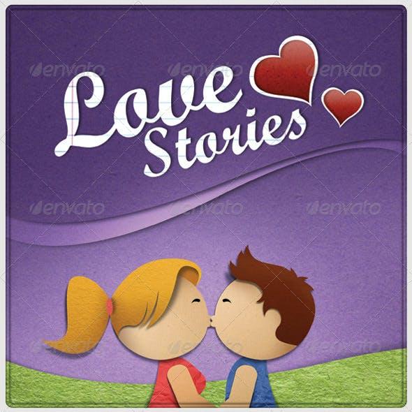 Illustration Love Stories PSD