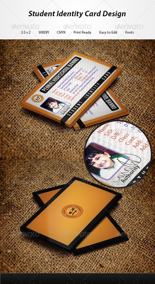 Student Identity Card - Business Cards Print Templates