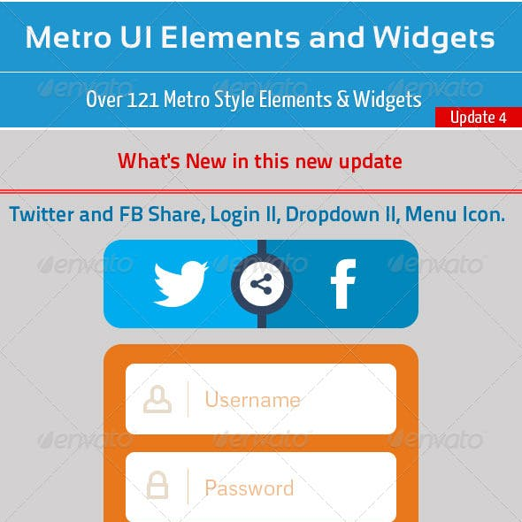 Metro UI Elements and Widgets