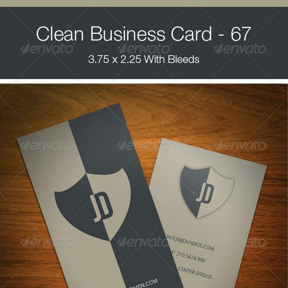 Clean Business Card - 67
