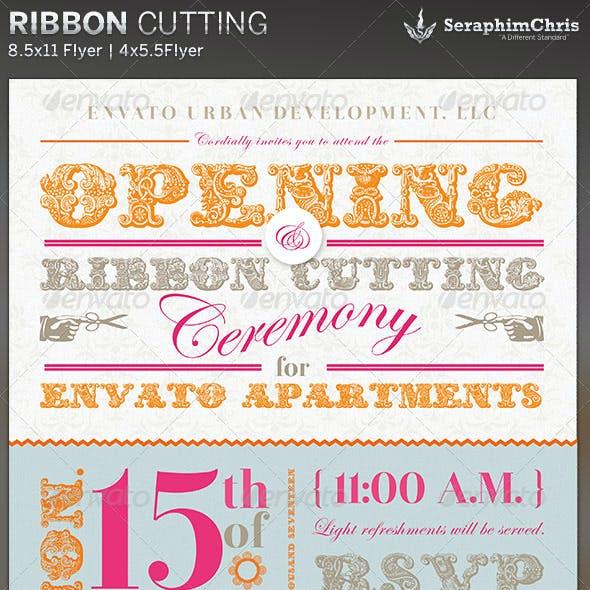 Ribbon Cutting Flyer Invite Template