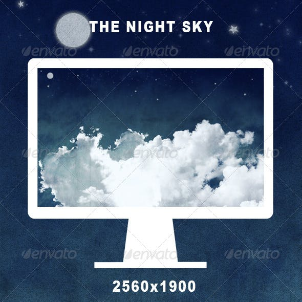 -The Night Sky- Clouds Background