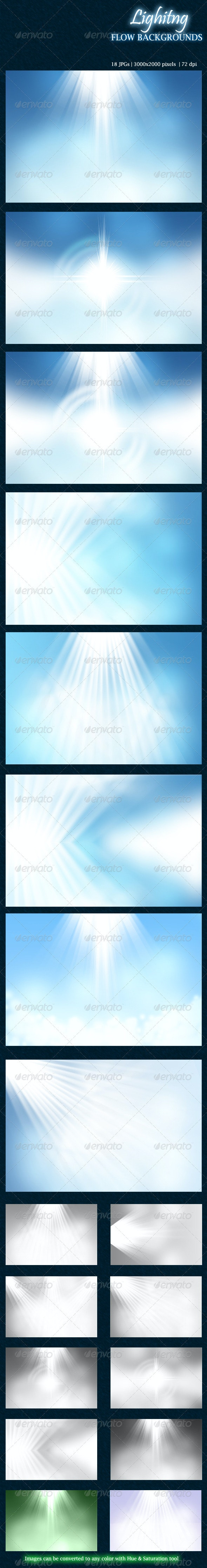 Lighting Flow Backgrounds - Abstract Backgrounds