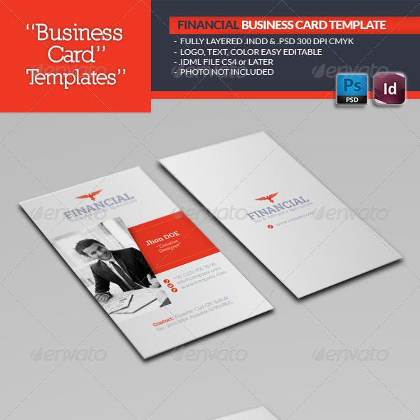 Financial Business Card Template