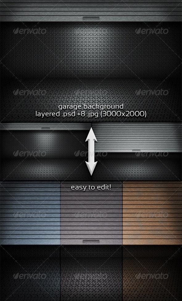 Garage Background - 3D Backgrounds