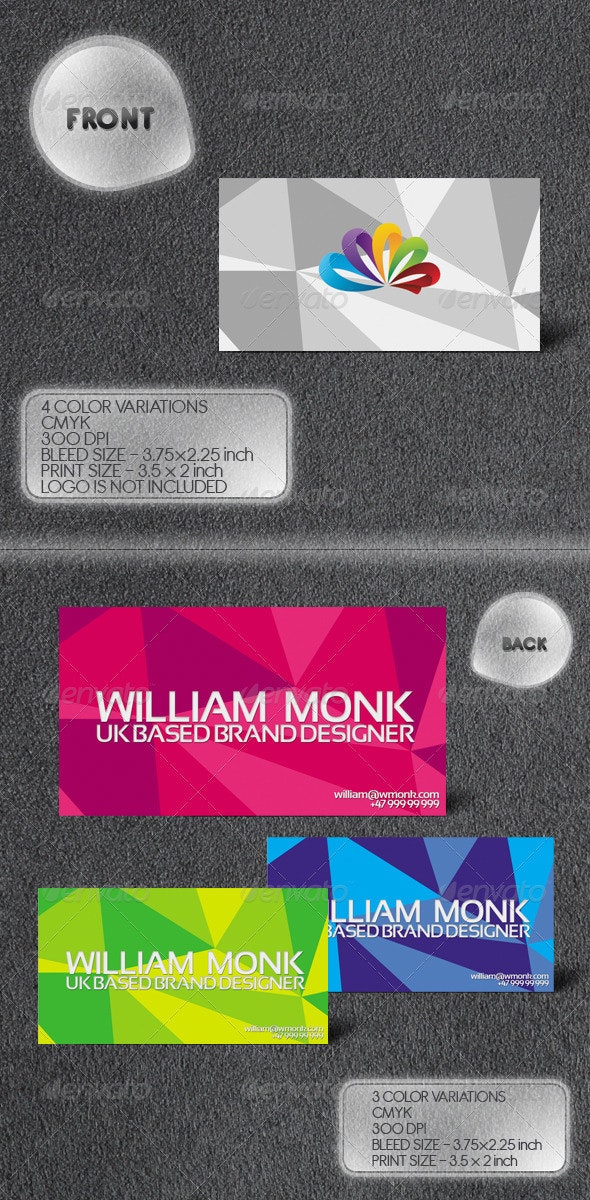 Triangulate Business Card - Creative Business Cards