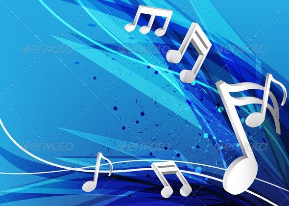 Blue Music Design Background - Miscellaneous Seasons/Holidays
