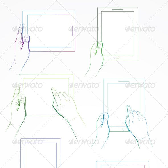 Hand Gesture on 10 Inch Tablet