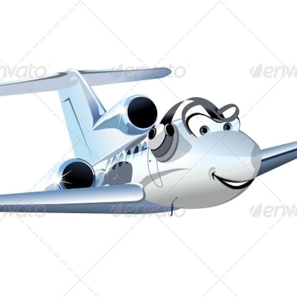 Vector Cartoon Civil Utility Airplane