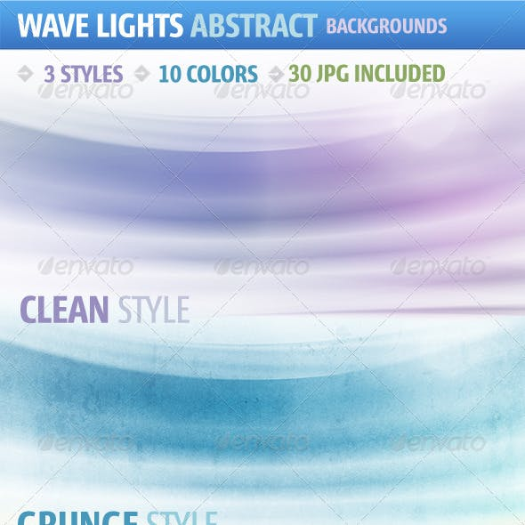 Wave Lights Abstract Background