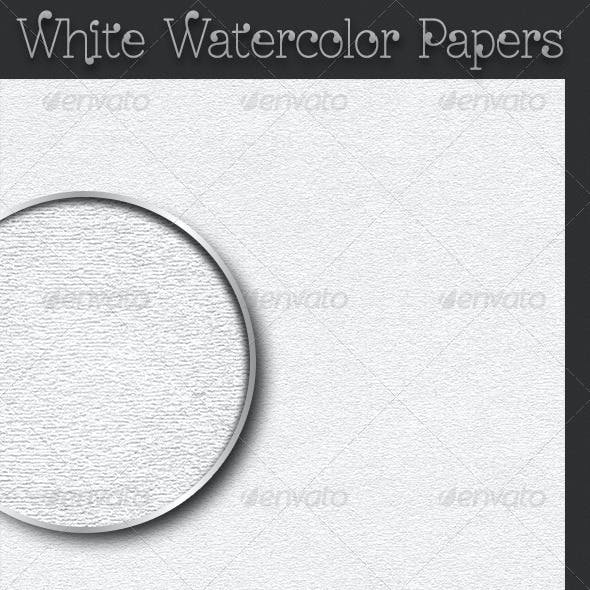 White Watercolor Papers
