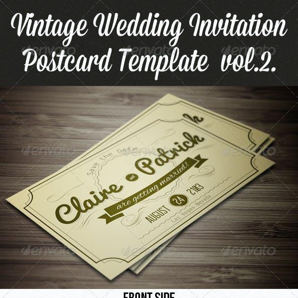 Vintage Wedding Invitation Postcard vol.2.