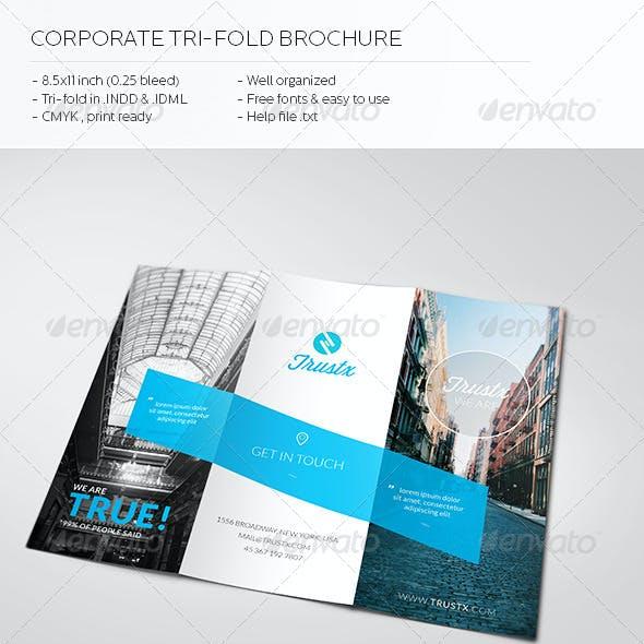 Trustx - Corporate Tri-fold Brochure