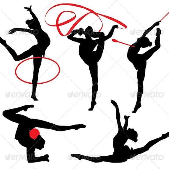 Rhythmic Gymnastics Silhouette