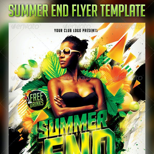 Summer End Flyer Template
