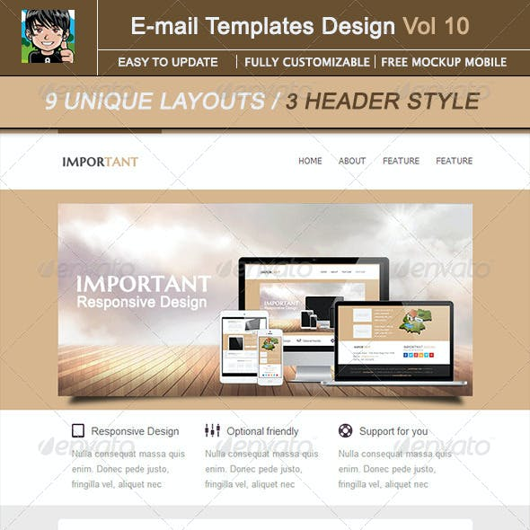 IMPORTANT-Email Template Design Vol 10