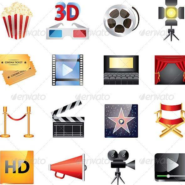 Popular Cinema ICons Vector Set