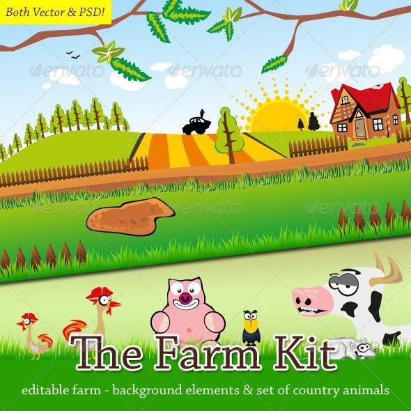 The Farm Kit - Animals Illustrations